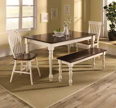 Two Tone Dining Room by Traditional Style Breakfast Nook Design With 4 Pieces Two Tone