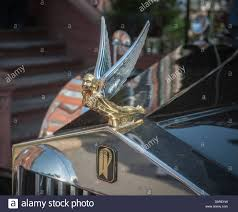rolls royce hood ornament hood ornament of a vintage restored 1924 rolls royce hearse owned