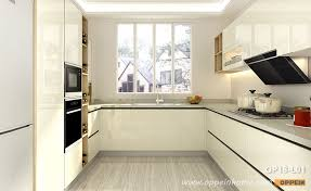 kitchen cabinets white lacquer small u shaped white lacquer kitchen op18 l01 oppein the