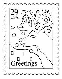 bluebonkers santa u0027s reindeer coloring pages 4 reindeer stamp