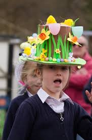 easter bonnets sidmouth primary school pupils parade their easter bonnets