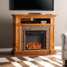 tv stand enchanting w simulated stone media center electric