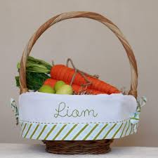 easter basket liners personalized personalized easter basket monogrammed easter basket liner fits