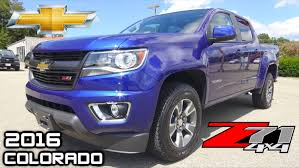 2015 Chevy Colorado Diesel Specs 2016 Chevy Colorado 4wd Z71 Review And Overview Laser Blue