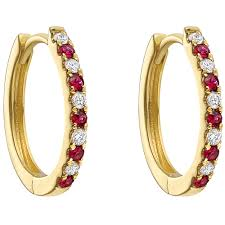 small ruby rings images Small ruby diamond hoop earrings betteridge jpg