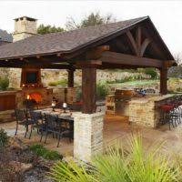 outdoor kitchen design outdoor kitchen decorating ideas using light brown stone outdoor