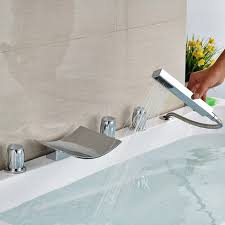 bathtub faucet set vima luxury 5pcs waterfall bathtub faucet set canada faucet