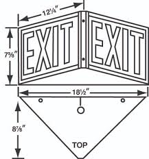 triangle led exit sign 3 way exit sign emergency light