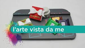 scrapbooking tutorial cornice confezione mini ritter sport con gift box punch board we r memory
