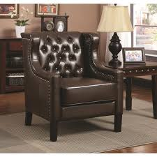 brown leather accent chairs atme