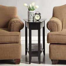 leick recliner wedge end table convenience concepts american heritage wedge end table hayneedle