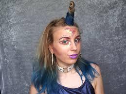 unicorn hair u0026 makeup for halloween alybell