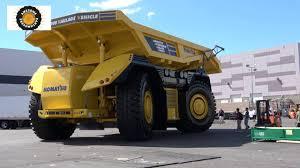 prototype komatsu autonomous dump truck with no cab komatsu