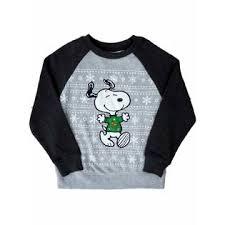 snoopy christmas sweatshirt peanuts by schulz peanuts gray snoopy christmas sweatshirt
