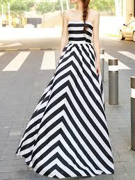 choies limited edition black stripe off shoulder maxi dress