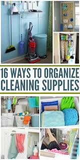clever ways to organize cleaning supplies