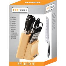amazon com top chef by master cutlery 15 piece knife set block