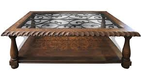 Tuscan Furniture Collection Tuscan Scroll Coffee Table With Glass The Koenig Collection