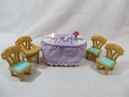 fisher price table chairs fisher price loving family dollhouse holiday musical flip table