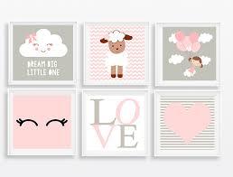 Basta Quadros decoração bebê menina coração no Elo7 | Pra Gente Pequena  #NS07