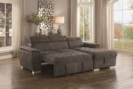 Sectional Sofa Bed With Storage Homelegance Taupe Sectional Sofa With Storage 8228tp Savvy