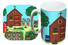 selina jayne allotment limited edition designer mug and coaster