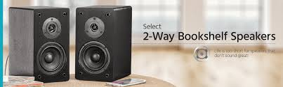 Refurbished Bookshelf Speakers Select 5 25 Inch 2 Way Bookshelf Speakers Pair Black Finish
