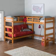 Bunk Beds Lofts Woodcrest Heartland Futon Bunk Bed With Loft Honey Pine