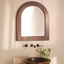 copper bathroom mirrors sedona arched copper framed wall mirror native trails