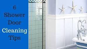 shower door cleaning tips
