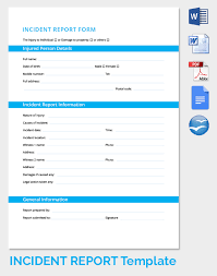 incident report form template word free incident form in word excel pdf free premium