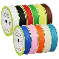 gift bows in bulk bulk bright grosgrain ribbon 5 yd spools at dollartree