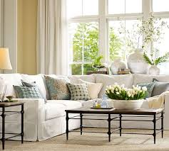 3 Cushion Sofa Slipcover Pottery Barn by Pb Comfort Square Arm Slipcovered 3 Piece L Shaped Sectional With