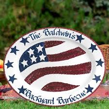 personalized barbecue platter 66 best patriotic gifts images on american pride