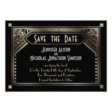Art Deco Wedding Art Deco Wedding Invitations U0026 Announcements Zazzle