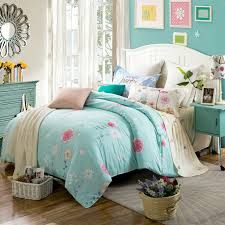 green bed set elegant floral style light green bedding sets linens cotton twin