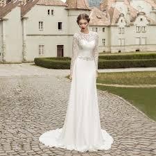 aliexpress com buy em428 lace a line wedding dress 2017 long