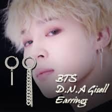 bts earrings bts jimin d n a gisell earrings kpop style hot item made in korea