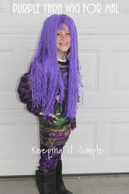 mal hair purple yarn wig for mal from descendants 2 costume keeping it simple