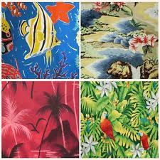 Hawaiian Curtain Fabric Tiki Fabric Ebay
