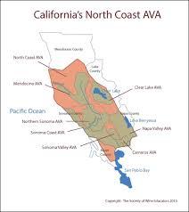 Sonoma California Map Ward On Wine North Coast California Ward On Wine