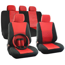 nissan altima seat covers car seat cover set for nissan altima steering wheel head rests red