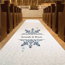 ivory aisle runner personalized winter wedding aisle runner foreverwed supply co