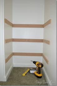 Build A Simple Wood Shelf Unit by 7 Simple Steps To Create Built In Closet Storage Organizing