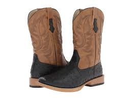 the shopping men shoes roper ostrich print square toe cowboy boot
