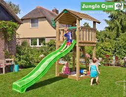 climbing frame and slide jungle cottage