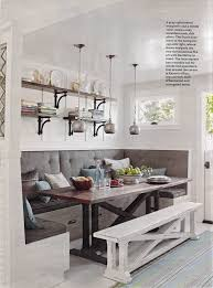 dining room banquette white distressed kitchen bench love it home pinterest