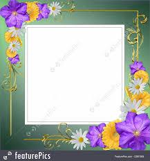 Decorative Flowers by Decorative Flowers Frame Illustration