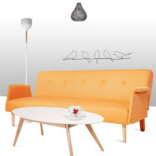 canapé convertible orange convertible scandinave orange