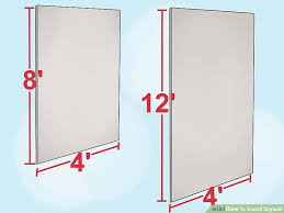 How To Install Bathroom Partitions How To Install Drywall With Pictures Wikihow